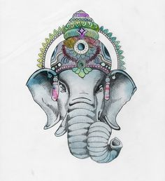 Ganesha art want this tattooed on me