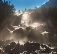 """""""The magical Uchar waterfall, Altai, Siberia, Russia.📷 by Pavel Filatov. Landscape Photos, Landscape Photography, Nature Photography, Altai Mountains, Walk In The Woods, Mother Earth, Cool Photos, Amazing Photos, Beautiful Places"""