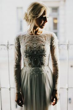This wedding dress is perfect elegance.