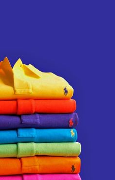 Polo by Ralph Lauren, geting ready for Summer 7 colours. Camisa Polo, Fashion Shoes, Mens Fashion, Love Fashion, Le Polo, Casual Street Style, Rainbow Colors, Bright Colors, Polo Ralph Lauren