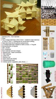 viviendas de bajo costo bambú en Vietnam por H & P arquitectos