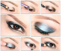 How To Apply Shades Of Eyeshadow, Feather shadows mkaiyazh step by step, photo lesson.