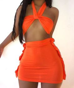 Online Shop KGFIGU 2020 New Arrival Solid color sexy suspender wrapped chest bikini tight lifting hip Mini Skirt Suit Crop Top Outfits, Trendy Outfits, Cute Outfits, Model Outfits, Dress Suits, Skirt Suit, Short Skirts, Mini Skirts, Strapless Crop Top