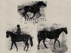 Grunge Horses