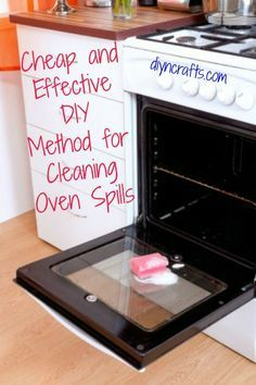 Cheap and Effective DIY Method for Cleaning Oven Spills Oven spills are such a pain. Not only do they leave a residue on your oven but they can start to smell if you don't get them cleaned up quickly. They can also start a fire if you leave them there too long. So, you have to clean them up but what's the best way to do that without having to run out and buy oven cleaner?