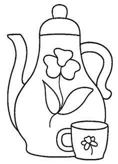 Image detail for Teapot Coloring Page Find the Latest News on