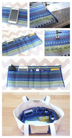 How to Make an Easy DIY Purse Organizer - from a fabric placemat!