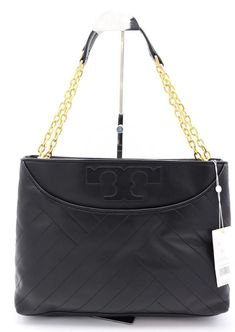 Details About Nwt Tory Burch Alexa Quilted Center Zip Tote In Black Leather