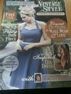 We can't wait for you to see the free Great British Sewing Bee supplement with two dressmaking projects and advice from judge May Martin, which comes free with our June issue. Here's a sneak peak at the cover. The magazine is on sale tomorrow, don't forget to pick up your copy, it also comes with a free Simplicity Project Runway Pattern!