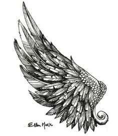 Angel wings tattoo drawing designs …