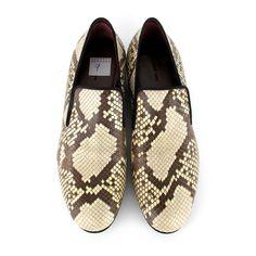Celine Python Shoes US 8 - 9 - loafers slip on slippers sneakers tan black 38 39 #Celine #Loafers