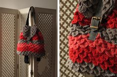 crochet backpack crocodile stitch