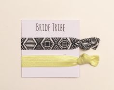 A personal favorite from my Etsy shop https://www.etsy.com/listing/267919203/bridesmaid-hair-tie-favorsbridetribe