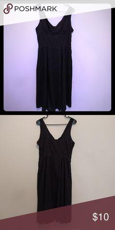 Dress sale! Gap dress Gap dress size 10. This beautiful black dress is 100% cotton GAP Dresses Midi
