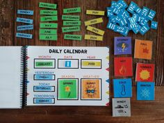 Activities For Boys, Zeina, Daily Calendar, Sunny Weather, Yellow Cat, Toddler Books, Busy Book, Montessori Toys, Business For Kids