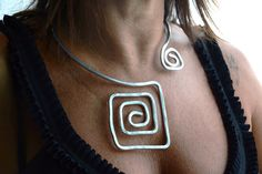 Hey, I found this really awesome Etsy listing at https://www.etsy.com/listing/246733481/aluminium-necklace-wrapped-necklace