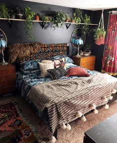44 Beautiful African Bedroom Decor Ideas - All About Decoration Dream Rooms, Dream Bedroom, Home Bedroom, Master Bedroom, Modern Bedroom, Girls Bedroom, Bedroom Rustic, Bedroom Simple, Contemporary Bedroom