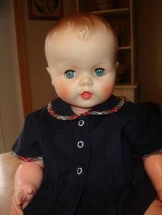 I loved this doll because she looked real and I could play with her as a real baby......great gift Santa