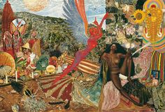 """Mati Klarwein painting """"Annunciation"""" featured on the cover of Santana's Abraxas album. I never get tired of looking at this painting."""