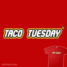 Taco Tuesday #atomicrocket #lego #tacotuesday #thelegomovie #typographic