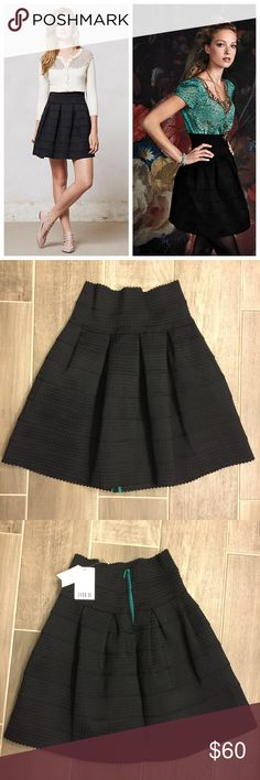 Black Ponte Bell Skirt Brand new, tag still attached and never wore. Also have black & white listed. Hard to find! Sold out and on many fashion blogs and all over Pinterest. This is the original, not one of the flimsy knock off versions. Ladylike and oh-so-flattering, Girls from Savoy's flared ponte A-line instantly creates an itty-bitty waist. Try it with a silky blouse and pumps for a polished look, or go more casual with a tee and oxfords. By Girls from Savoy Back zip Polyester, elastic…