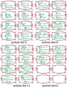 advent calendar activities - printable cards