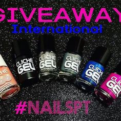 Great international giveaway here!! Only a few days left to enter!!@Regrann from @nailspt -  Time to... GIVEAWAY!!    Rules: 1  Follow @nailspt 2  Repost this picture with the tag #nailsptgiveaway  This GIVEAWAY is international and will be close on 30th of September The winner will be choose randomly!  Prize: One Liquid palisade one gel effect top coat one holographic glitter one blue one gray and one purple nailpolish   This giveaway is not sponsored! Good luck!!  #nailpolish #giveaway…