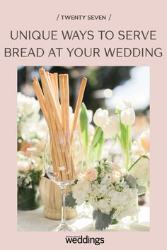 Bread makes for a great wedding appetizer as well as table decor. Your guests will appreciate the pre-dinner snack as well as the unique edible decoration appeal! Wedding Buffet Food, Wedding Reception Food, Wedding Menu, Wedding Tables, Festive Bread, Wedding Food Stations, Summer Wedding Guests, Wedding Appetizers, Outdoor Wedding Photography