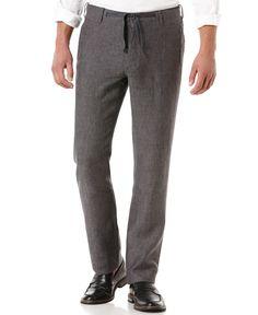 Perry Ellis Big and Tall Drawstring Linen Pants