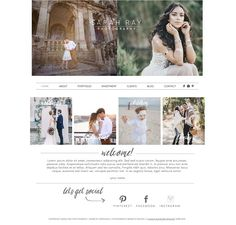 Photography Wix Website Template by Sunny Blossom Designs on @creativemarket