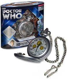 Doctor Who The 10th Doctor's Fob Watch with Metal Keychain #UndergroundToys