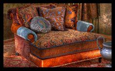 bohemian velvet chair