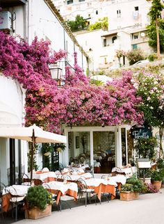 Outdoor cafe in Positano, Italy