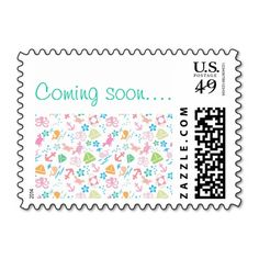 Under The Sea Baby Shower Stamps