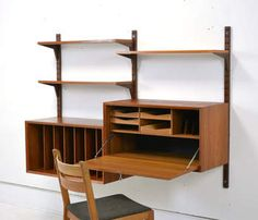 Poul Cadovius Vintage CADO system in teak, Office version