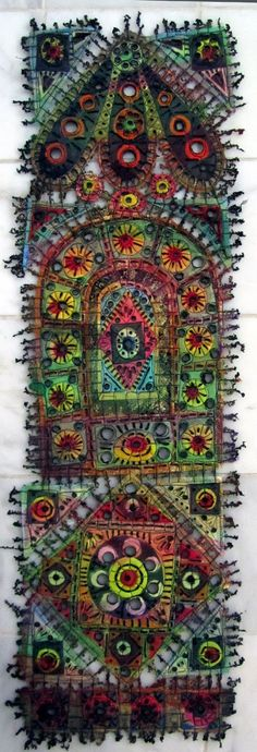Art In Stitches: Workshop Success ... and new faux-stained glass!