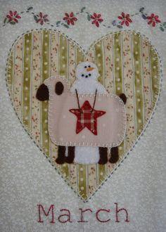 Patchwork Allsorts: March Snow Happy Heart Block