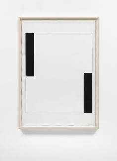 Carmen Herrera, Untitled, 2012, Acrylic and pencil on paper, 100 x 70 cm, Lisson Gallery | black white geometric minimalism art