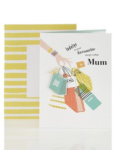 Mum Loves to Shop Birthday Card