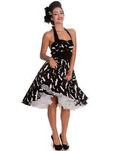 Hell Bunny Flared Bat Dress - White :: VampireFreaks Store :: Gothic Clothing, Cyber-goth, punk, metal, alternative, rave, freak fashions