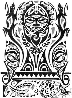 dd0f424bd tattoo maori-idea-disegno-complesso Polynesian Art, Polynesian Tattoos,  Polynesian Designs