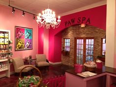 Call today to book your next appointment at our Pet Spa! 512-329-9663, Would love my place to have this kind of entrance but not sure it would be cost effective.