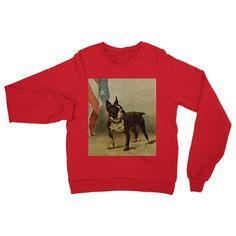 Earl, Maud (1864-1943) - The Power of the Dog 1910 (Boston Terrier) Heavy Blend Crew Neck Sweatshirt