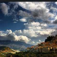 Polop, small Spanish village #spain #landscape #wanderlust #village #clouds #sky #tranquil #travel #beautiful #love #travelgram