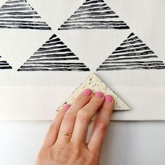 Learn to block print on fabric with Erin Dollar from Cotton & Flax!