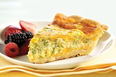 Prepare this easy-as-pie Broccoli-Cheddar Quiche for a tasty brunch entrée. This simple Broccoli-Cheddar Quiche is made with ready-to-use pie crust. Quiche Recipes, Brunch Recipes, Breakfast Recipes, Breakfast Ideas, Brunch Ideas, Yummy Recipes, Dinner Ideas, Recipies, Dinner Recipes