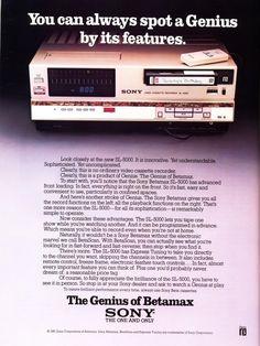 Sony Betamax Advertisement.