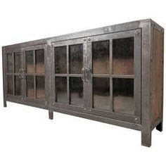 Machine Age Style Glass Door Console
