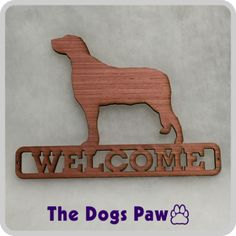 Laser Cut Irish Wolfhound Welcome Sign #wolfhound #shopthedogspaw