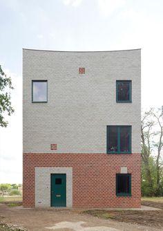 Backsteinturm zum Wohnen - Atlas House in Eindhoven von Monadnock Collage Architecture, Brick Architecture, Minimalist Architecture, Contemporary Architecture, Architecture Details, Residential Architecture, Healthcare Architecture, Small Buildings, Amazing Buildings